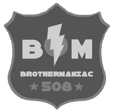(508) Brothermaniac Badge Logo